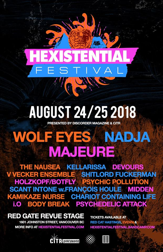 Show Poster for Hexistential 2 music festival